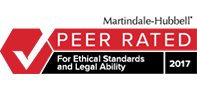 Martindale-Hubbell | PEER RATED | 2017 | For Ethical Standards and Legal Ability