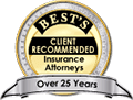 Best Clients Recommendation Insurance Attorneys over 25 Years